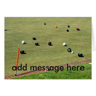 Lawn Bowls Game, Add Your Message, Card