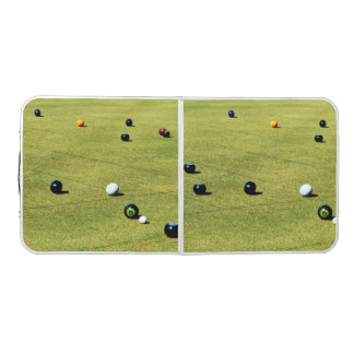 Lawn Bowls Game, Folding Aluminum Folding Table. Pong Table