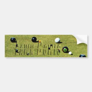 Lawn Bowls Game Logo, Car Bumper Sticker