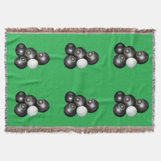 Lawn_Bowls,_Green_Woven_Blanket