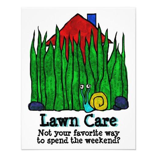 Lawn Care. Mow Grass. Landscaper. Promotional 11.5 Cm X 14 ...