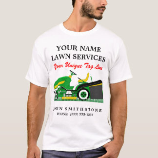 Lawn Mower | Landscaping | Groundskeeping Service T-Shirt