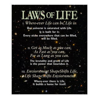Laws of Life Poster