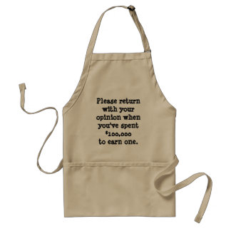 Lawyer Apron: Return with your opinion... Standard Apron