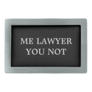 Lawyer Belt Buckle with humor