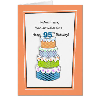 Layers of Wishes 95th or Any Age Birthday Card