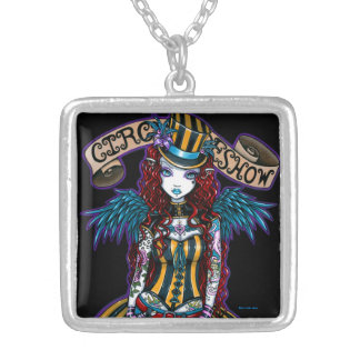 """Layla"" Steampunk Circus Tattoo Sideshow Necklace"