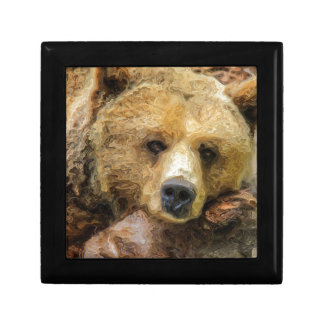 Lazy Grizzly Bear Gift Box