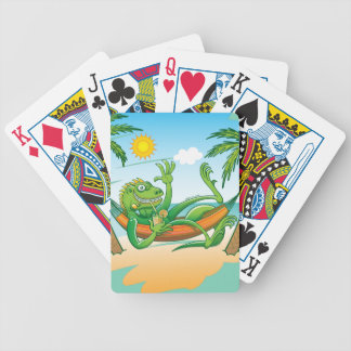 Lazy Iguana Summer on the Beach Poker Deck