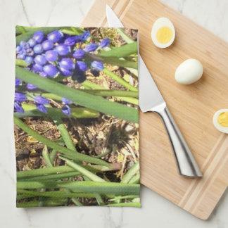 Lazy Lupins Tea Towel