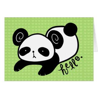 lazy panda blank notecards card