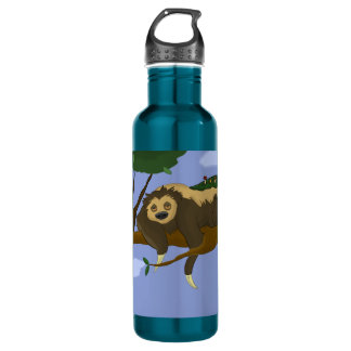 Lazy Sloth In A Tree 710 Ml Water Bottle