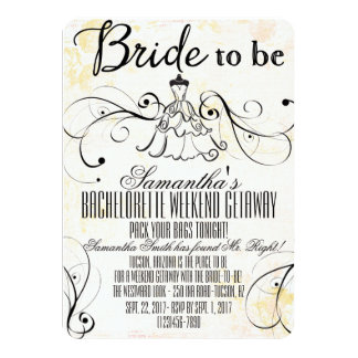 LBD Bachelorette Getaway Invitations