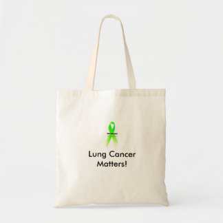 LC Tote Bag, Lung Cancer Matters! Budget Tote Bag