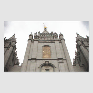 LDS Mormon Salt Lake City Temple photograph Rectangular Sticker