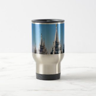 lds salt lake city temple angel moroni stainless steel travel mug