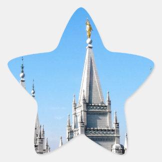 lds salt lake city temple angel moroni star sticker