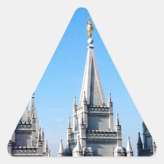 lds salt lake city temple angel moroni triangle sticker
