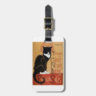 Le Chat Noir et Blanc Luggage Tag