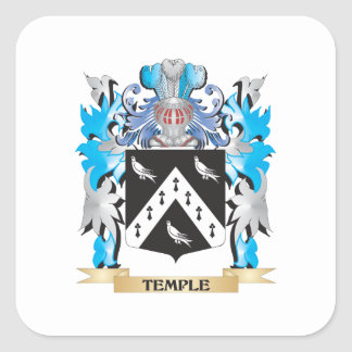 Le Coat of Arms - Family Crest Square Stickers