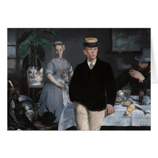 Le Déjeuner dans l'atelier by Édouard Manet Card