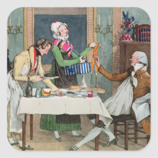 Le Restaurant, pub. by Rodwell and Martin, 1820 (c Square Sticker