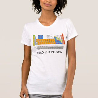 LEAD IS A VERY STRONG POISON TSHIRT