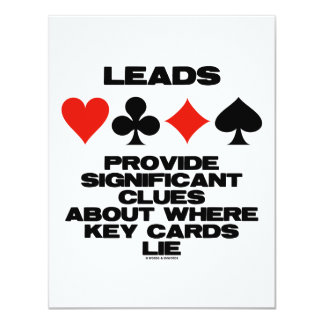 Leads Provide Significant Clues About Key Cards 11 Cm X 14 Cm Invitation Card
