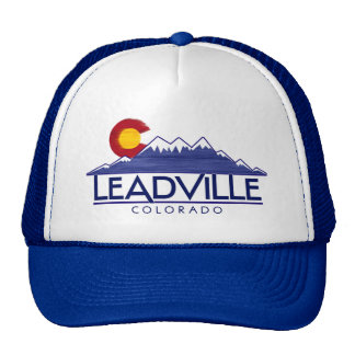 Leadville Colorado wood mountains hat