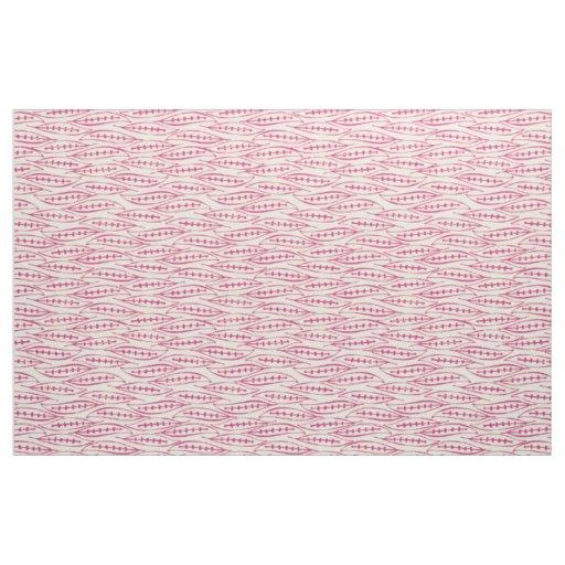 leaf block pink ivory fabric