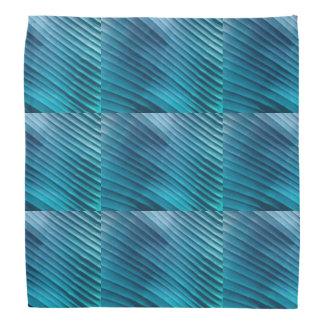 Leaf Blue Diagonal Bandana