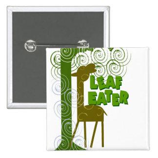Leaf Eater 15 Cm Square Badge