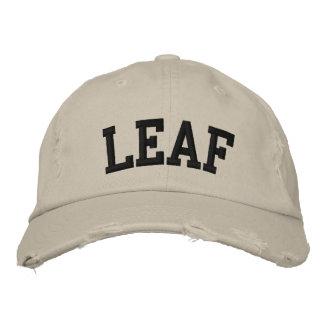 Leaf Embroidered Hat