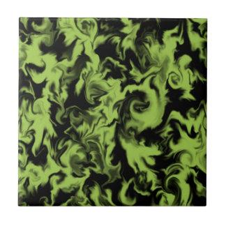 Leaf Green & Black mixed color tile