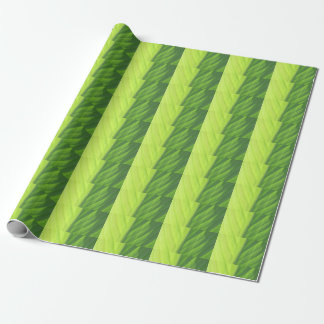 Leaf half in sun wrapping paper