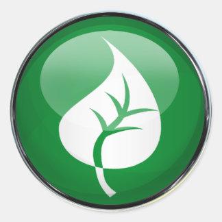 Leaf Round Sticker