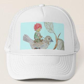 Leaf Sprite Rides a Sparrow Trucker Hat