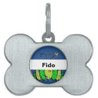 Leafy Design on Pet ID Tag