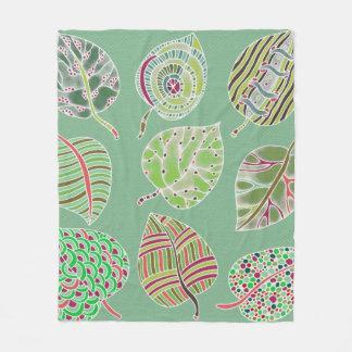 Leafy Fleece Blanket