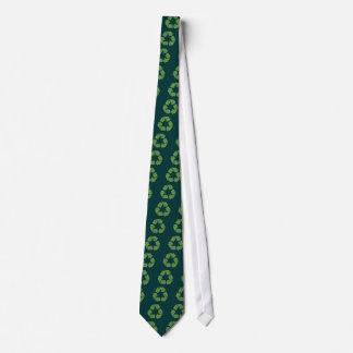 Leafy Recycle Symbol Tie