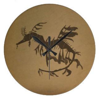 Leafy Sea Dragon Fossil Wallclock