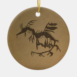 Leafy Sea Dragon Fossil Christmas Ornaments