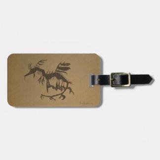 Leafy Sea Dragon Fossil Luggage Tag