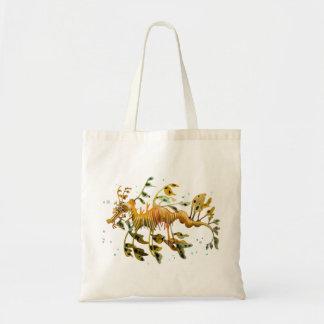 Leafy Sea Dragon Reusable shopping tote Budget Tote Bag