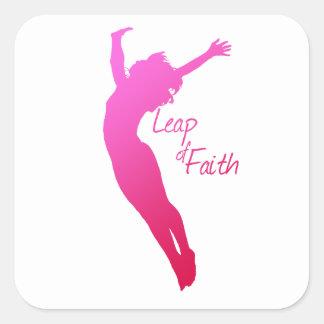 Leap of Faith Square Sticker