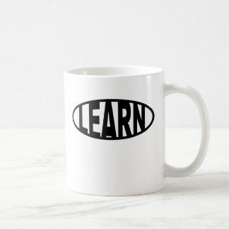 Learn-Oval Coffee Mug