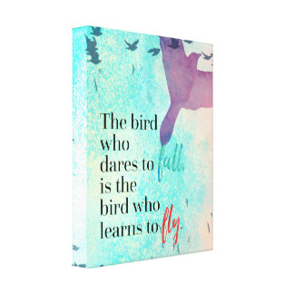 Learn To Fly Quote Canvas Print