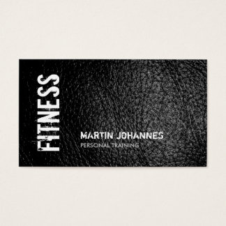 Leather Effect Personal Trainer Business Card