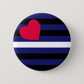 Leather Latex and BDSM Pride Flag 6 Cm Round Badge