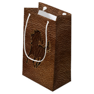Leather-Look Horse Small Gift Bag